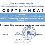 Сертификат участника РИП-ИнКО