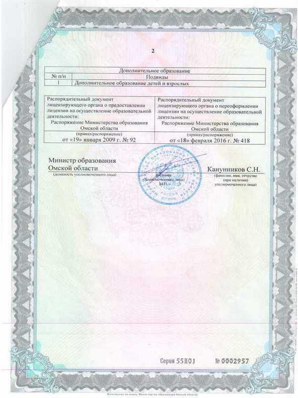 Лицензия 2 лист